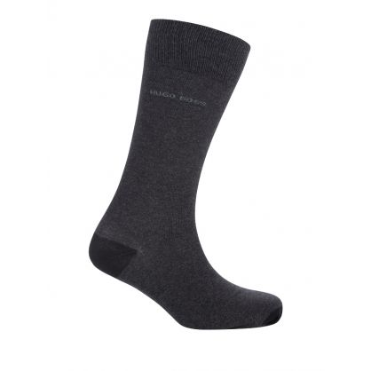 Black/Charcoal Finest Soft Cotton Stripe Socks 2-Pack