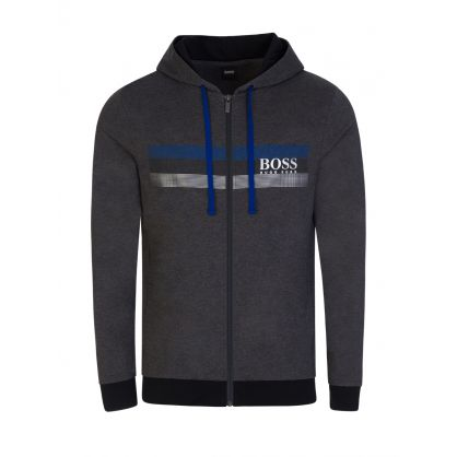 Authentic Grey Bodywear Hooded Zip-Through