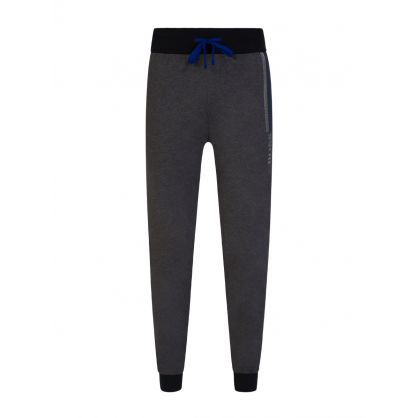 Grey Bodywear Block-Striped Logo Lounge Sweatpants