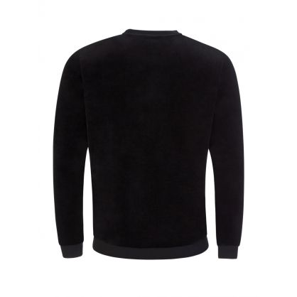 Black Bodywear Velour Sweatshirt