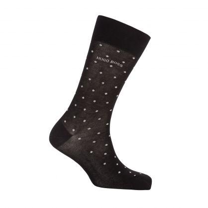 2Pk Black Glitter Logo Sock Gift Set
