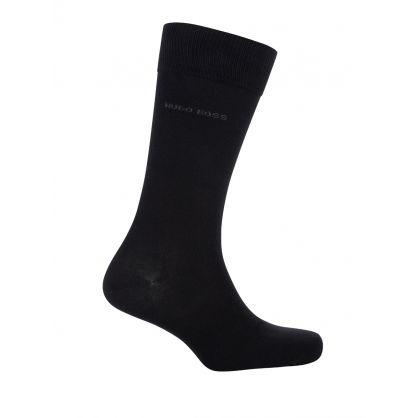 Black Finest Soft Cotton 2-Pack Socks Bag Gift Set