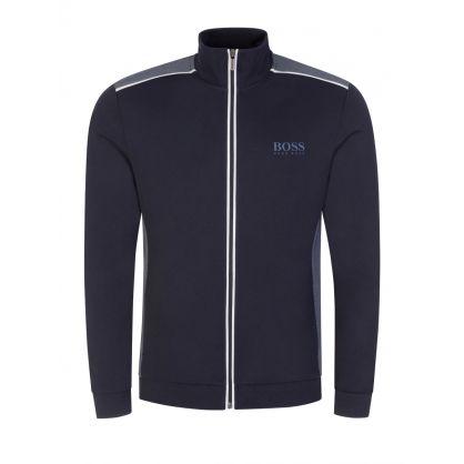Dark Blue Loungewear Zip-Through Tracksuit Jacket