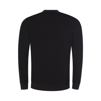 Black Authentic Heat-Sealed Logo Lounge Sweatshirt