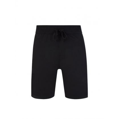 Bodywear Black Loungewear Heat-Sealed Logo Authentic Shorts
