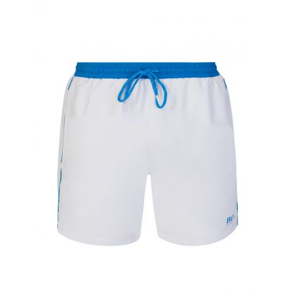 White Beachwear Starfish Swim Shorts