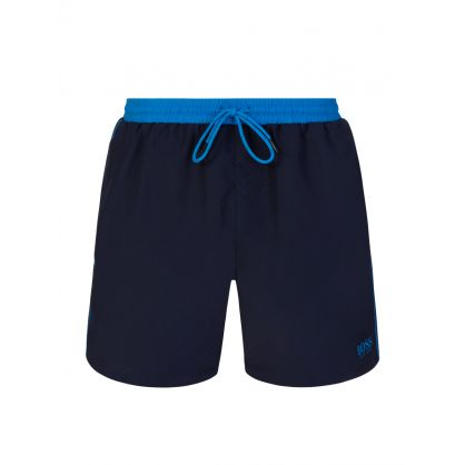 Navy/Blue Beachwear Starfish Swim Shorts