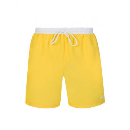 Yellow Beachwear Starfish Swim Shorts