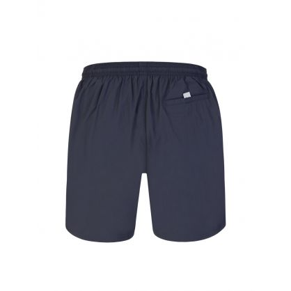 Dark Grey Beachwear Octopus Swim Shorts