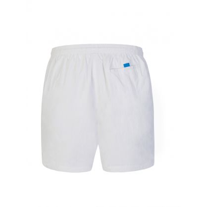 White Beachwear Octopus Swim Shorts