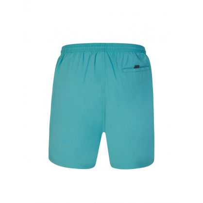 Green Beachwear Octopus Swim Shorts
