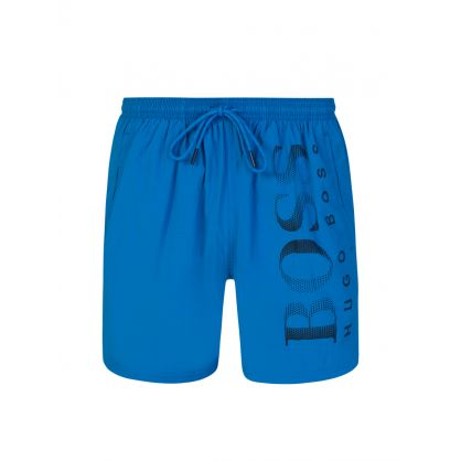 Light Blue Beachwear Octopus Swim Shorts