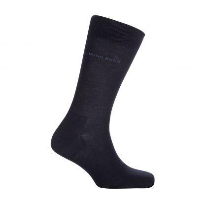 Dark Blue Finest Soft Cotton Socks 2-Pack