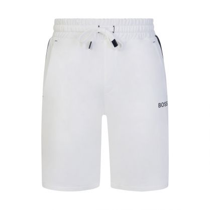 White Bodywear Heritage Logo Tape Shorts