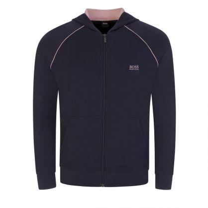 Navy Blue Bodywear Mix & Match Hooded Zip-Through