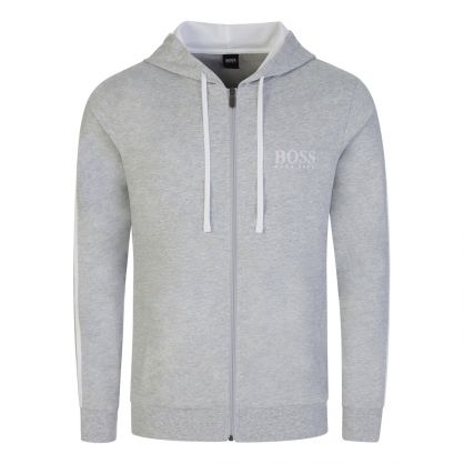 Grey Authentic Bodywear Hooded Zip-Through
