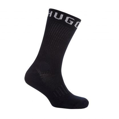 White/Navy Sports Socks 2-Pack