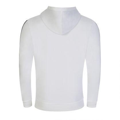 White Heritage Bodywear Hooded Zip-Through