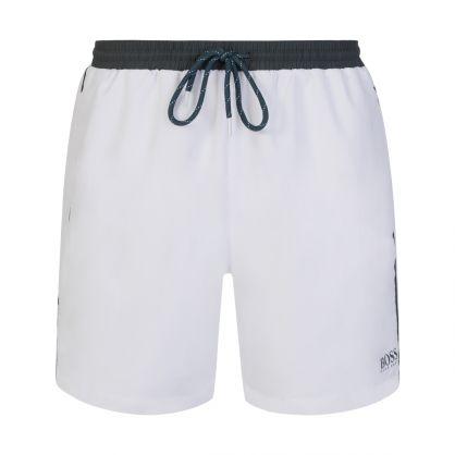White/Green Starfish Swim Shorts