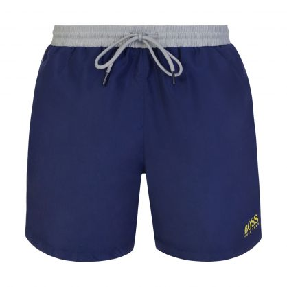 Dark Blue Beachwear Starfish Swim Shorts