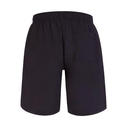 Black Beachwear Quick-Dry Whale Swim Shorts