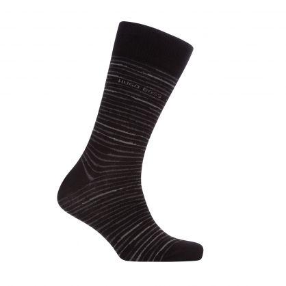 Black Finest Soft Cotton Stripe Socks 2-Pack