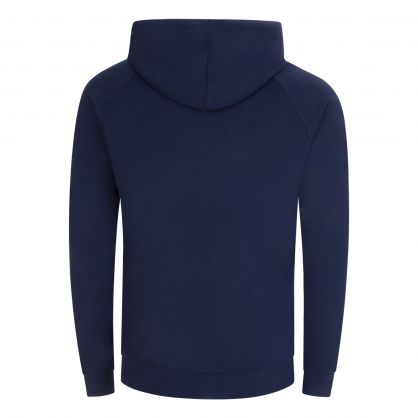 Dark Blue Authentic Hooded Zip-Through