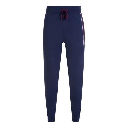Dark Blue Bodywear Authentic Logo-Stripe Lounge Sweatpants
