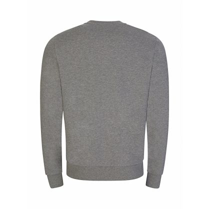 Grey Multi Embroidery Sweatshirt