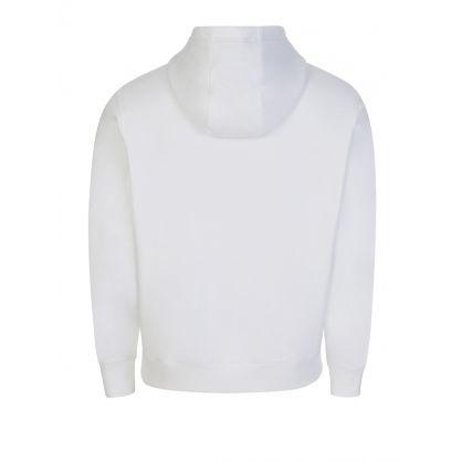 White Organic Cotton Reversed Logo Hoodie