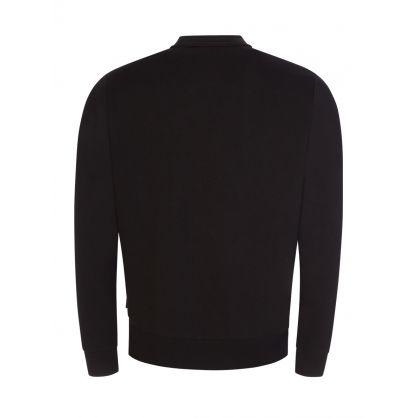 Black Flock Box Logo Sweatshirt