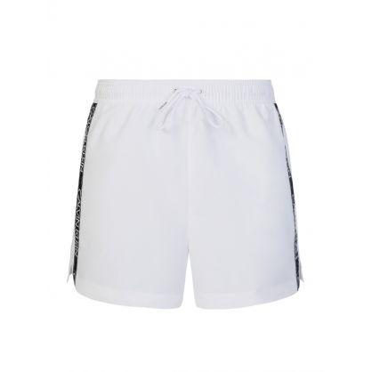 White Logo Tape Swim Shorts