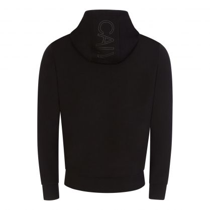 Black Organic Cotton Hooded Zip-Through