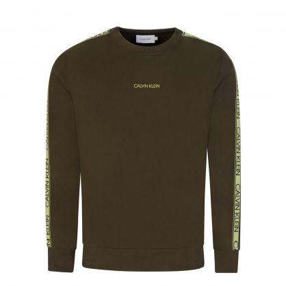 Green Logo Tape Sweatshirt