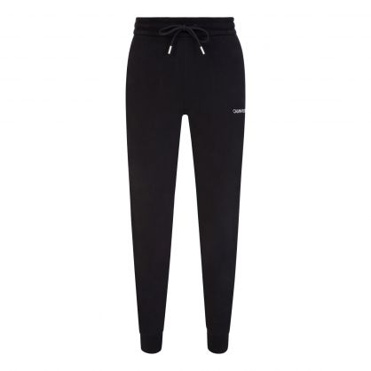 Black Essential Logo Tape Sweatpants
