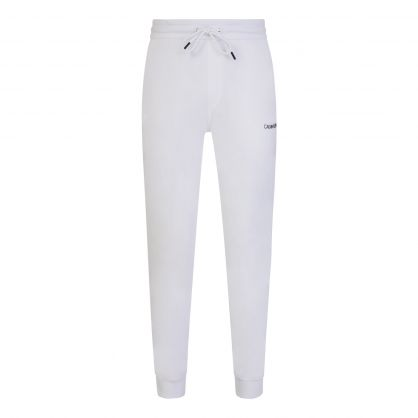 White Essential Logo Tape Sweatpants