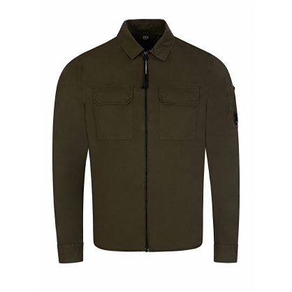 Green Goggle Arm Overshirt