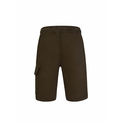 Green Cargo Bermuda Sweat Shorts