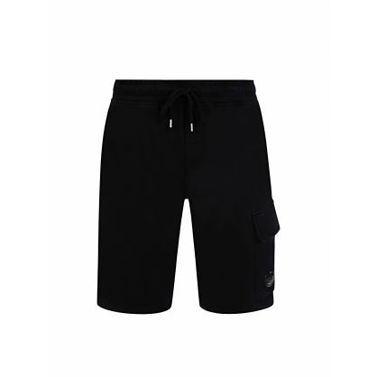 Black Cargo Bermuda Sweat Shorts