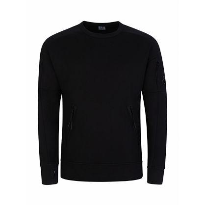 Black Zip Pocket Sweatshirt