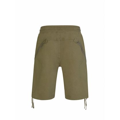 Green Diagonal Raised Fleece Shorts
