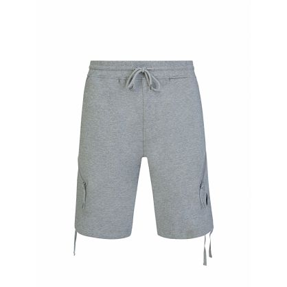 Grey Diagonal Raised Fleece Shorts