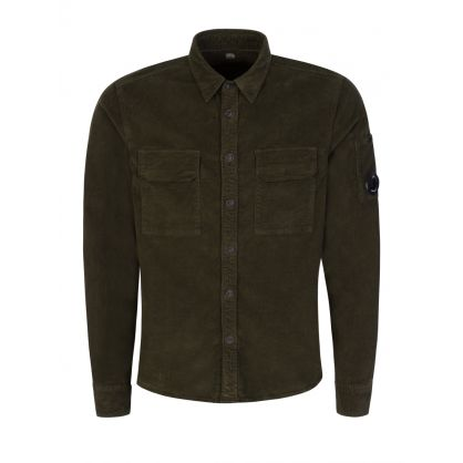 Green Stretch Corduroy Shirt