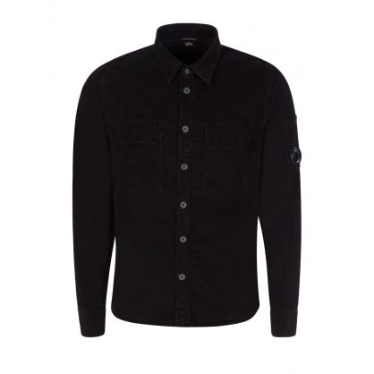 Black Stretch Corduroy Shirt