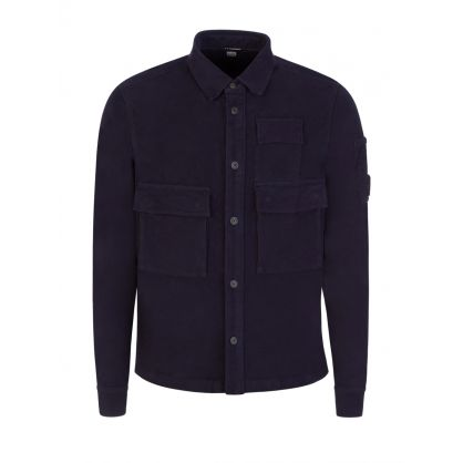 Navy Pocket Lens Overshirt