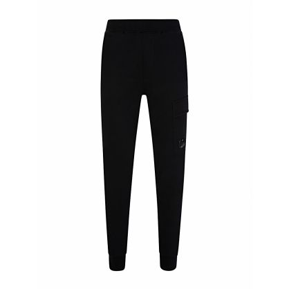 Black Goggle Lens Cargo Sweatpants