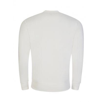 White Crew Neck Logo Sweatshirt