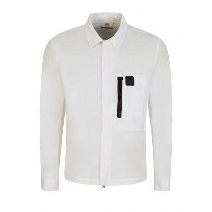 Cream Zip Metropolis Series Overshirt