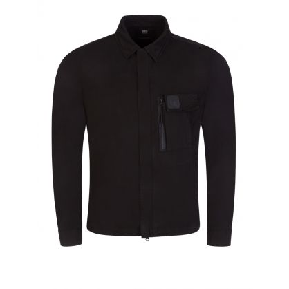 Black Zip Metropolis Series Overshirt