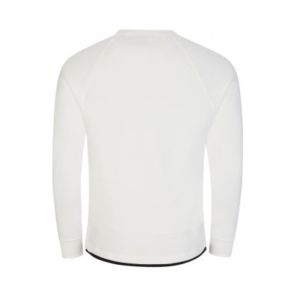 White Metropolis Series Diagonal Raised Fleece Sweatshirt